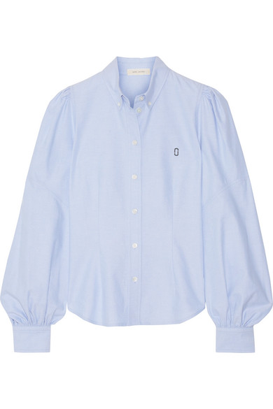 marc jacobs female marc jacobs cotton oxford shirt light blue