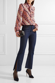 Marc Jacobs Pussy-bow printed silk crepe de chine blouse