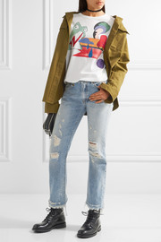 Marc Jacobs Embellished printed cotton-jersey T-shirt