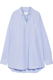 Maison Margiela Oversized striped cotton-poplin shirt
