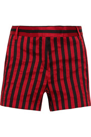 Ann Demeulemeester Striped satin-twill shorts