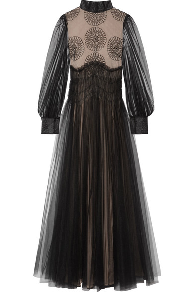 Valentino Robe From Tulle With Applications