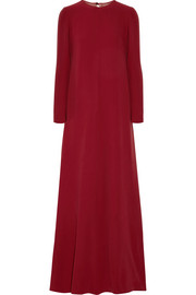 Valentino Draped silk-cady gown