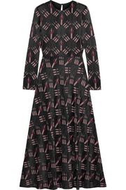 Valentino Printed crepe midi dress