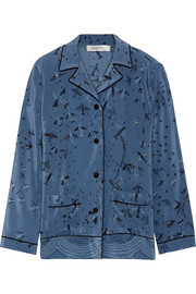 Valentino Swallow Metamorphosis printed silk crepe de chine shirt