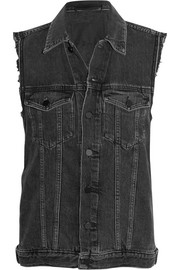 Daze distressed denim vest