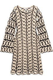 Chloé Crocheted cotton mini dress