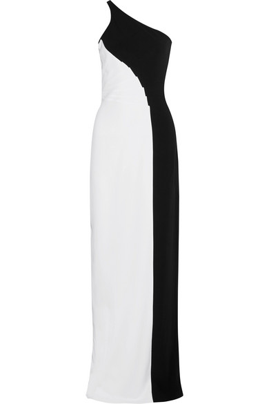 Stella Mccartney Woman Natalia One-shoulder Two-tone Stretch-cady Gown White Size 38 Stella McCartney View Low Price Cheap Price Low Cost Release Dates Cheap Price jjOCfkQ