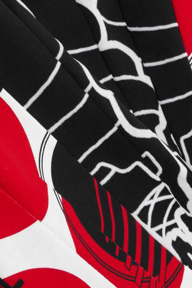 STELLA MCCARTNEY 'Aurelia' Mixed Slogan Print Colourblock Top