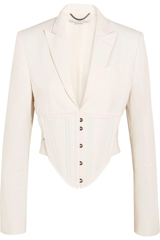 Stella McCartney Abigail cropped cutout cady jacket
