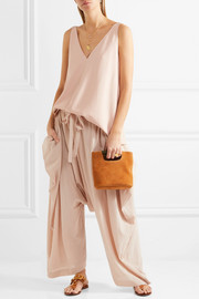 Stella McCartney Crinkled-cotton pants