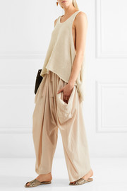 Stella McCartney Distressed open-knit linen tank