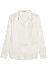 Eva embroidered silk blouse