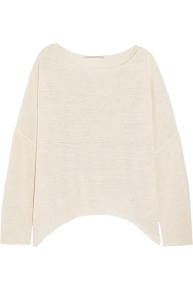Stella McCartney - Oversized Open-knit Sweater - Cream