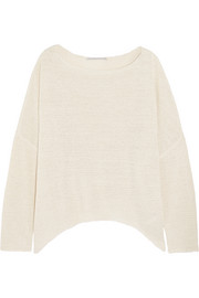 Oversized open-knit sweater