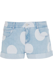 Stella McCartney Bleached denim shorts