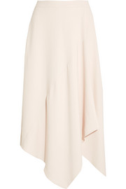 Asymmteric stretch-cady midi skirt
