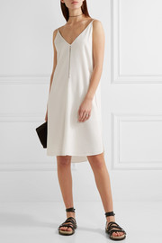 T by Alexander Wang Chain-trimmed stretch-crepe dress