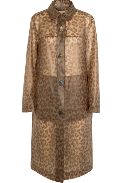 Christopher Kane - Leopard-print Rubberized Raincoat - Leopard print