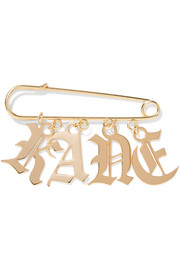 Christopher Kane Gold-tone brooch
