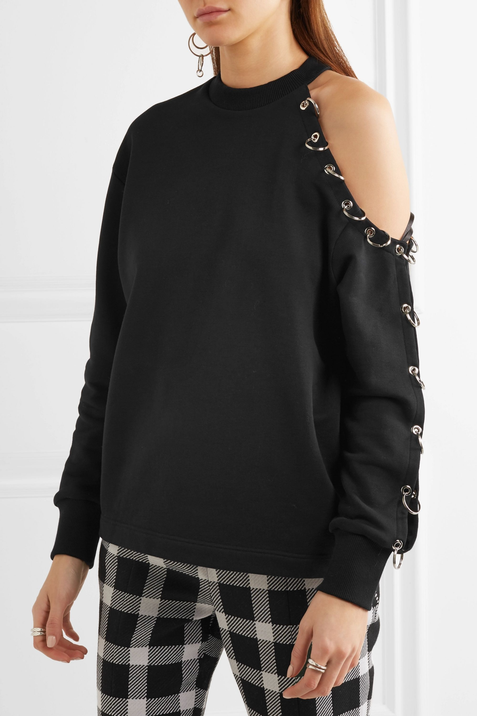 Christopher Kane Cutout embellished cotton-jersey sweatshirt