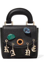 Christopher Kane Gypsy Bonnie embellished textured-leather tote