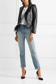 Saint Laurent Perfecto embellished leather biker jacket