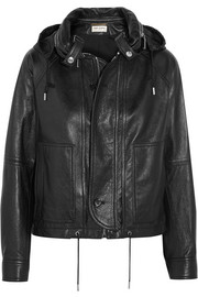 Saint Laurent Hooded leather jacket