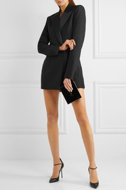 Saint Laurent Satin-trimmed wool and mohair-blend playsuit