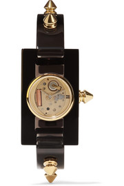 Plexiglass and gold-tone watch