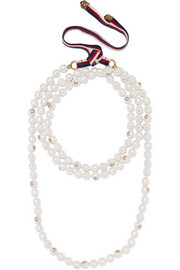 Gucci Faux pearl and gold-tone necklace