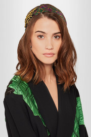 Gucci Embellished metallic jacquard headband