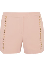 Embellished crepe shorts