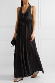 Vanessa Bruno Guenia tiered washed-silk maxi dress