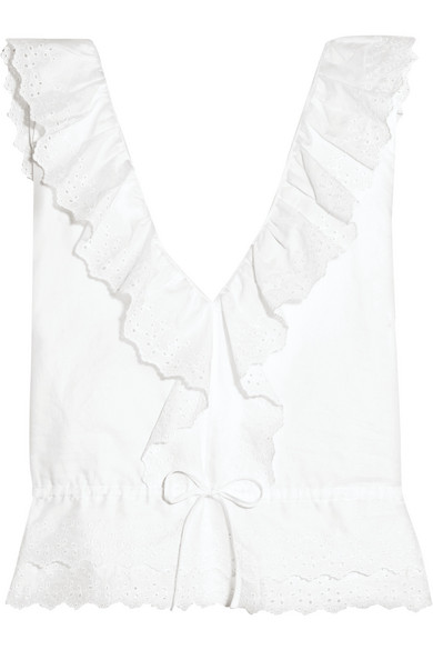 Vanessa Bruno - Giwete Broderie Anglaise Cotton Top - White
