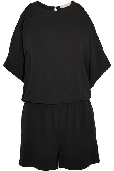 Vanessa Bruno - Ginesa Cold-shoulder Open-back Crepe Playsuit - Black