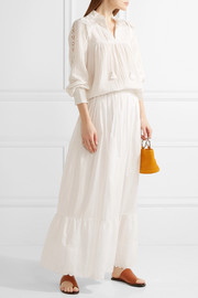 Vanessa Bruno Ghali broderie anglaise cotton maxi skirt