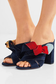 Chloé Nellie bow-embellished suede mules