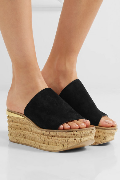 Camille suede wedge sandals Chloé R5PVXve