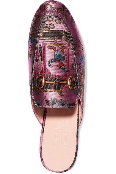 Beste Günstig Online Gucci Princetown Slippers aus Jacquard in Metallic-Optik mit Horsebit-Detail Mode Zum Verkauf Ebay Günstig Online gmTlMD