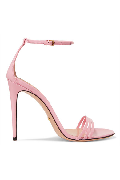 gucci female gucci patentleather sandals baby pink