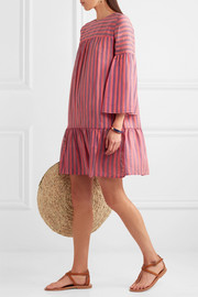 Danaide striped silk-jacquard mini dress