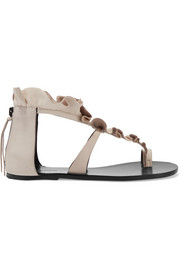 Isabel Marant Audry ruffled leather sandals