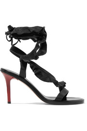Isabel Marant Ansel ruffle-trimmed leather sandals