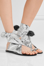 Isabel Marant Maheo metallic textured-leather sandals