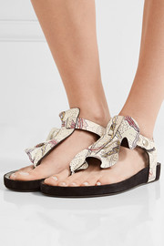Isabel Marant Leakey ruffled printed leather sandals