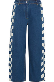 KÉJI Cropped checked jeans