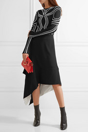 Proenza Schouler Embroidered silk-blend stretch-knit top
