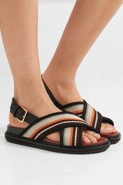 Marni Leather-trimmed woven sandals