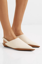 Marni Leather slingback point-toe flats